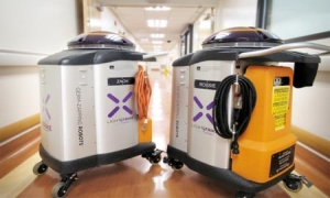 Germ-Zapping Robots by Rush Foundation Hospital
