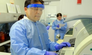 Coronavirus testing lab at Northwell Health