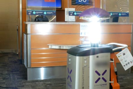 San Antonio International Is First Airport in the World to Purchase and Deploy Virus and Bacteria Defeating Xenex LightStrike Robot