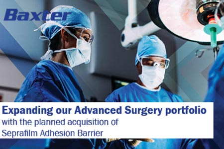 Baxter to Expand Advanced Surgery Portfolio With Acquisition of Seprafilm Adhesion Barrier